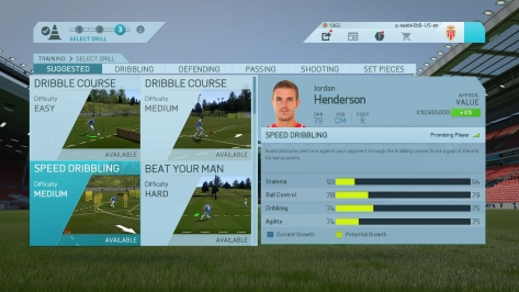 FIFA 16 Career Traininig (In Menus)