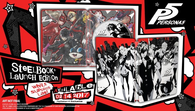 PERSONA 5 NEW STEELBOOK COVER DESIGN
