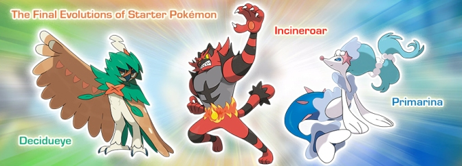8 New Pokémon Revealed, Final Starter Evolutions and New Features Announced for Pokémon Sun and Pokémon Moon